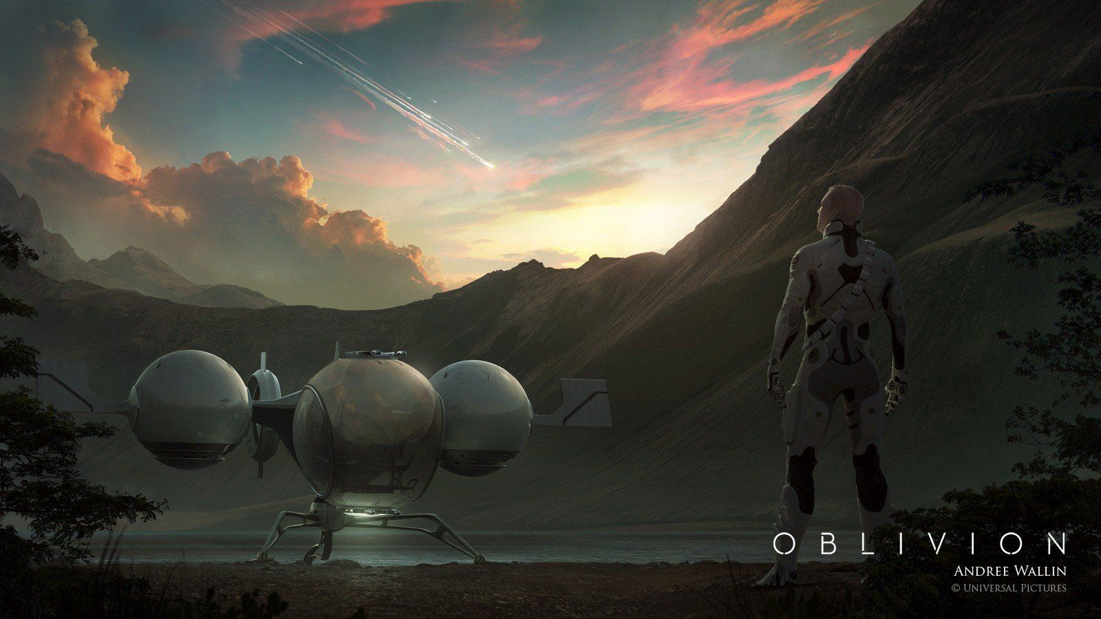 scifi themes oblivion movie wallpaper in hd resolution with tom | 3d