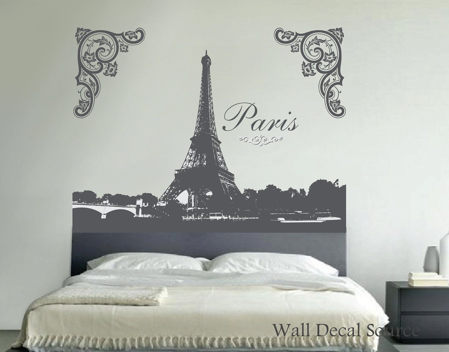 Eiffel Tower Wall Decal. $99.00, Via Etsy.