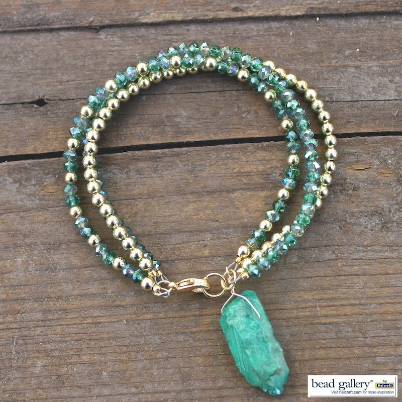 Envy Bracelet featuring Bead Gallery bead available at @michaelsstores #madewithmichaels