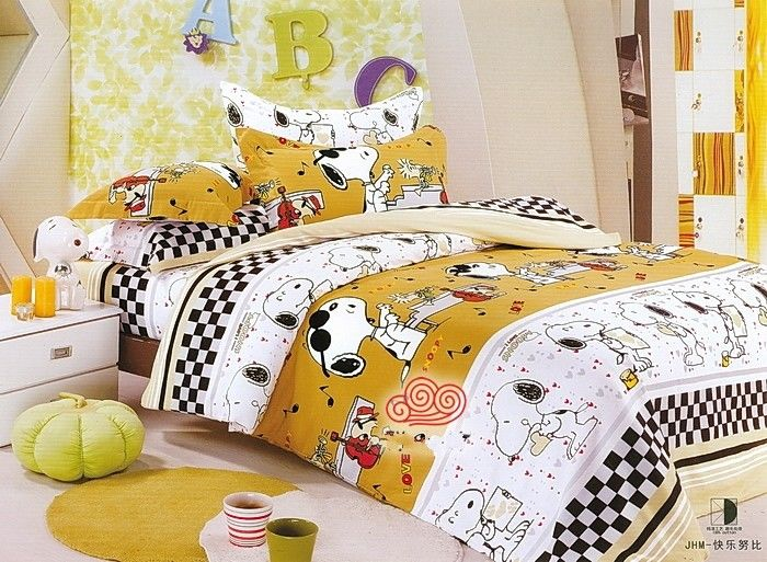 Snoopy(Scooby Doo) Bedding Brushed Quilt Cover And Fitted Sheet