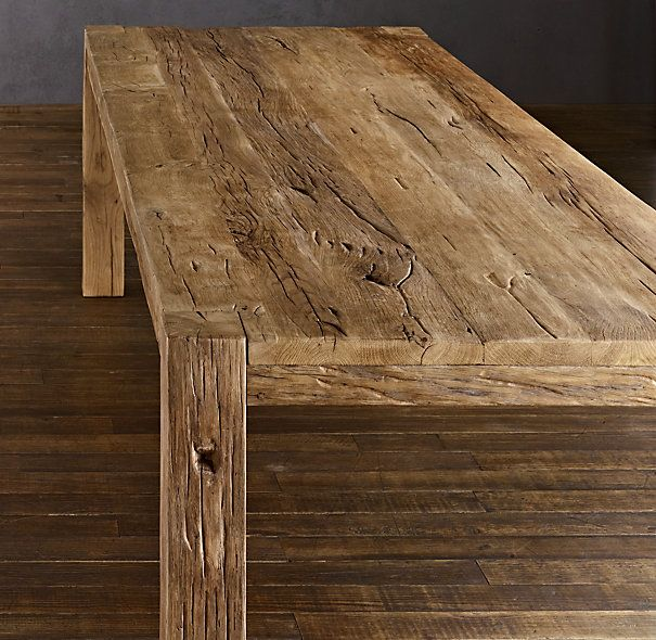 Oh How I Just Love Reclaimed Wood Dining Tables Here S One Parsons Russian Oak Table Restoration Hardware