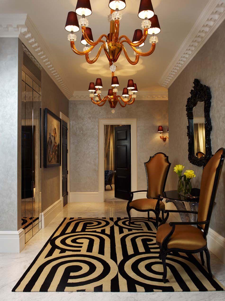 15 exemples de déco entrée moderne et accueillante | White fireplace