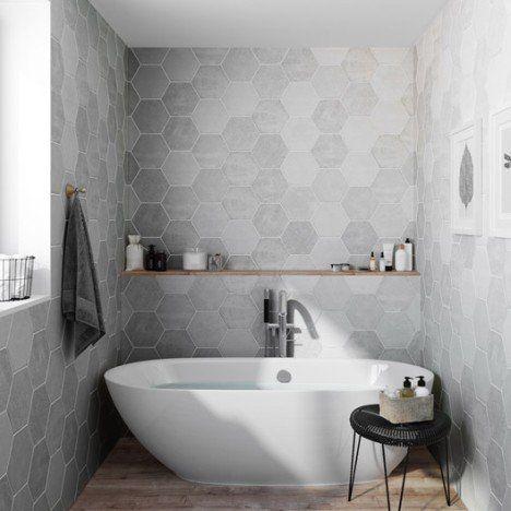 Carrelage sol et mur calcaire, Street hexagone l216 x L25 cm