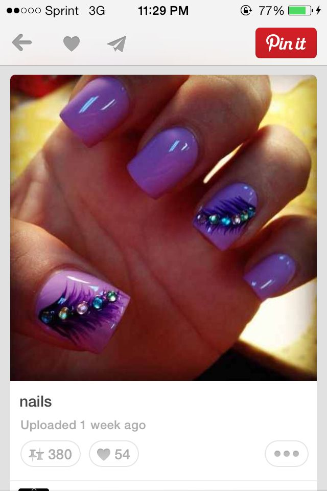 feather nails   Rilee   Pinterest   Feather nails, Nail nail and Makeup