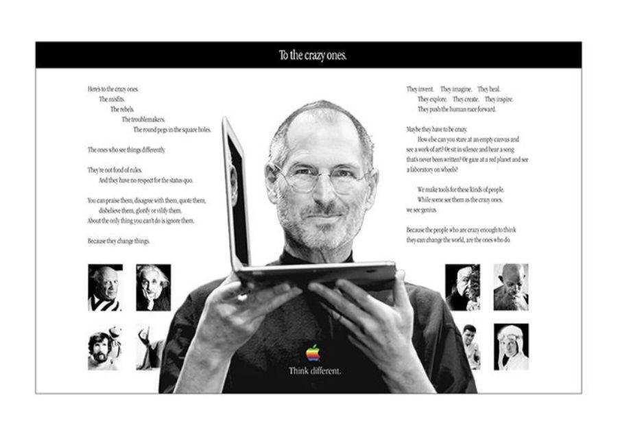 Apple Poster THINK DIFFERENT 1998 DIN A1 84,1 cm x 59,4 cm Bob Dylan
