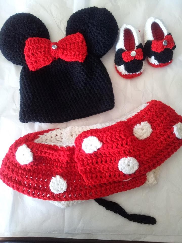 Crochet Minnie Mouse Outfit Pattern Knitting Bordado Pinterest