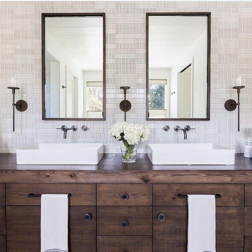 Cool modern farmhouse bathroom design ideas (5 | Modern farmhouse ...