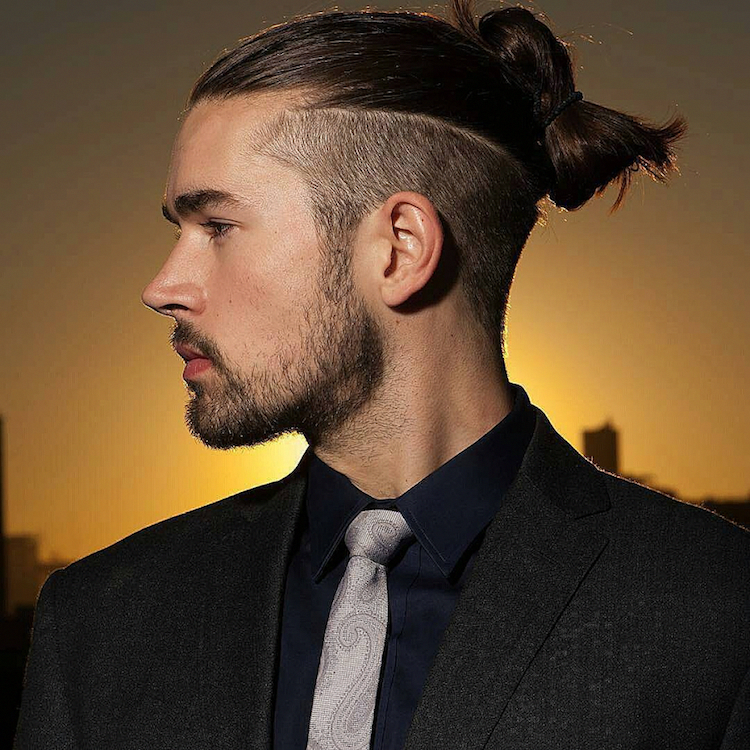 coiffure homme 2018 long undercut man bun hairstyles