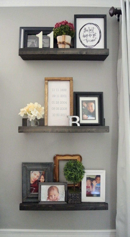 Set of 3, Floating shelves, Picture ledge shelves ...