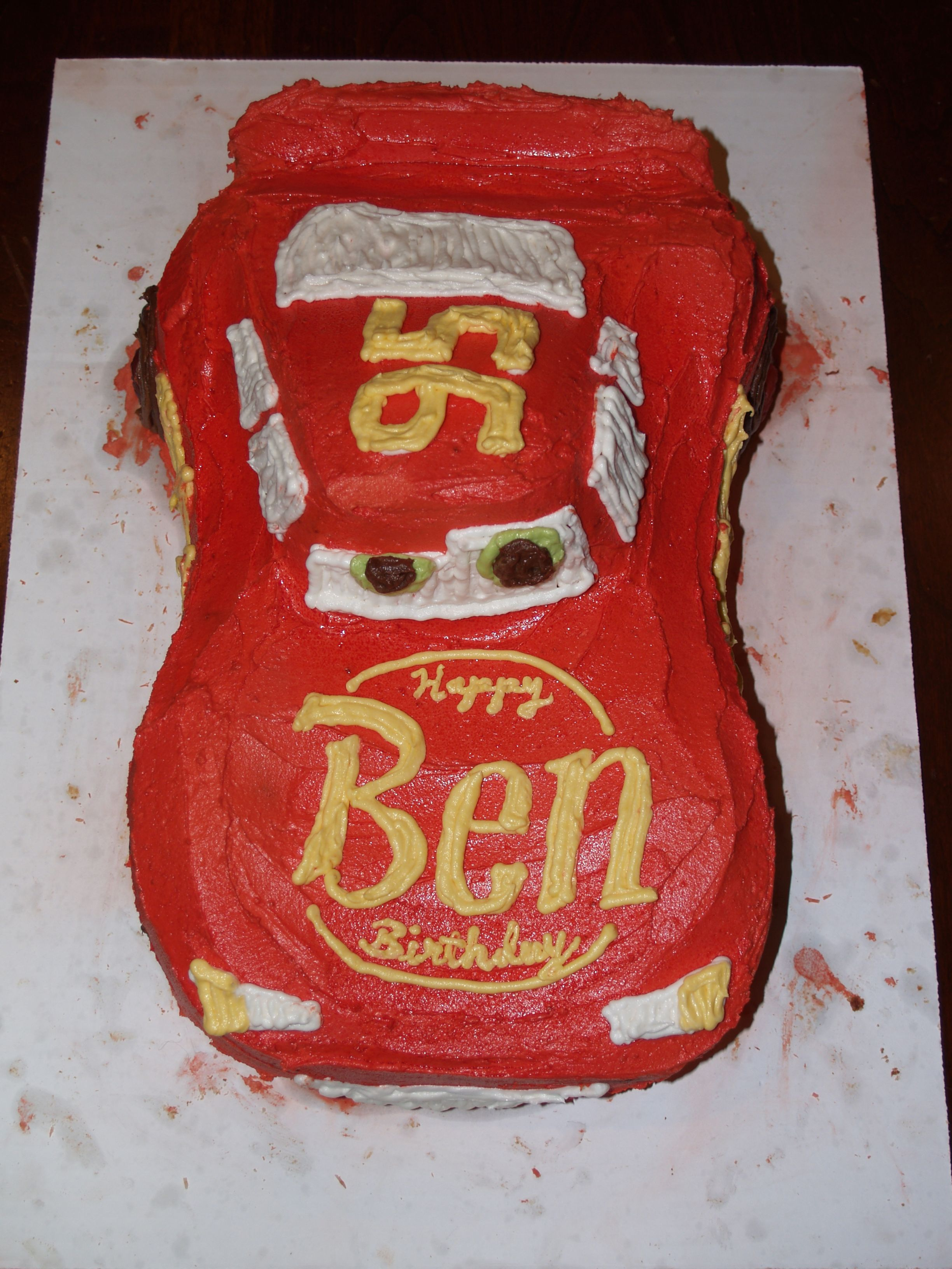 Admirable Happy Birthday Ca Chow Lightning Mcqueen Style With Images Funny Birthday Cards Online Ioscodamsfinfo