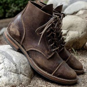 ea1c7dd7060510 Men Vintage Genuine Leather Ankle Boots – isubella  Menssuits