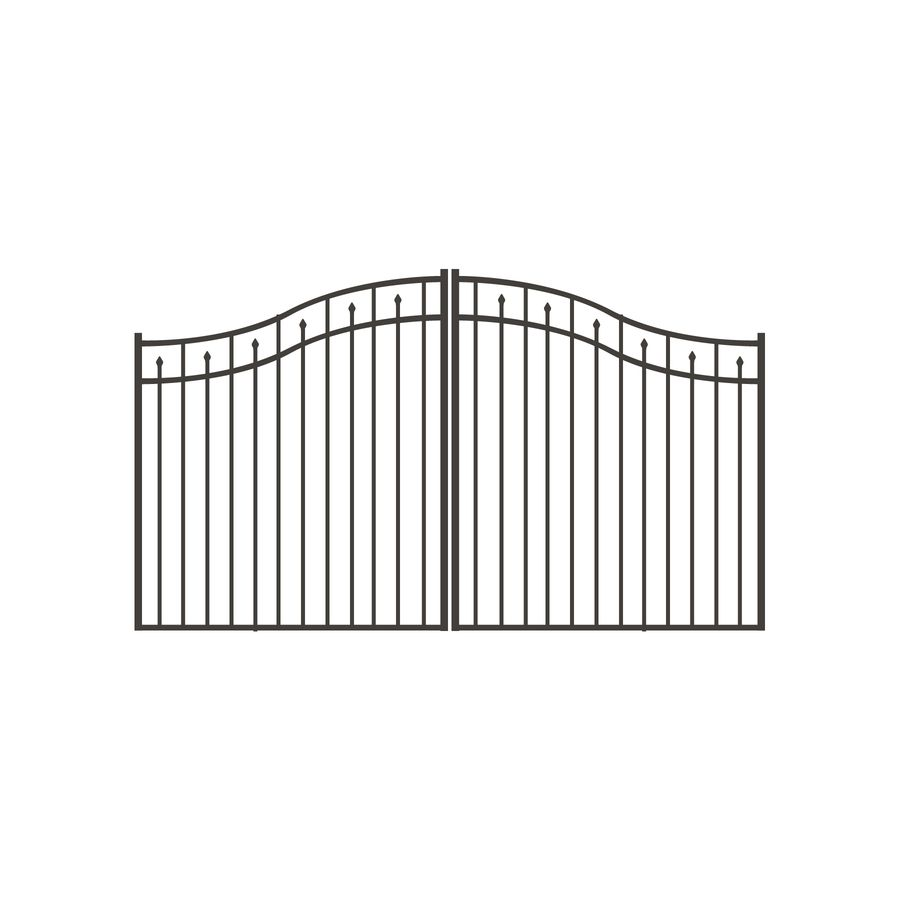Shop Freedom 10 Ft Pewter Aluminum Driveway Gate At Lowes Com 744 Aluminum Driveway Gates Driveway Gate Front Yard Fence