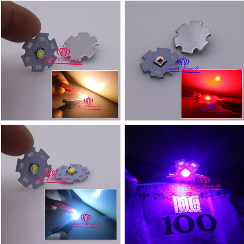 10pcs Lot T6 10w 5050 Smd Emitter Diodes Red Green Blue Uv White 32 3 6v 3a Led 20mm Star Red Green Blue Green Diodes