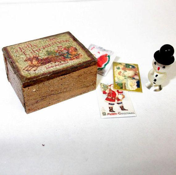 Dollhouse  miniature Christmast box scale 1/12 by Teruka on Etsy