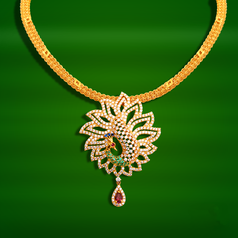 20 Grams Gold Necklace Designs in GRT Jewellers | Gold necklaces ...