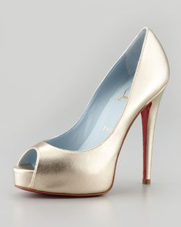 afb0fbc766c Christian Louboutin Vendome Metallic Platform Red Sole Pump | shoes ...