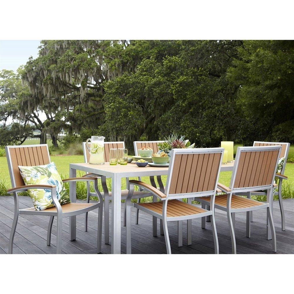 A 7 Piece Rectangle Outdoor Dining Set With Rust Resistant