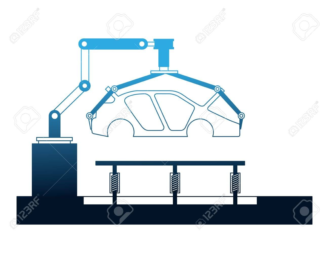 body of car on the assembly line the conveyor at the