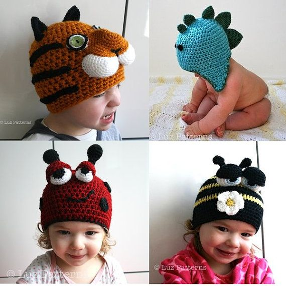 Crochet hat patterns, crochet patterns, hat animal patterns offer ...