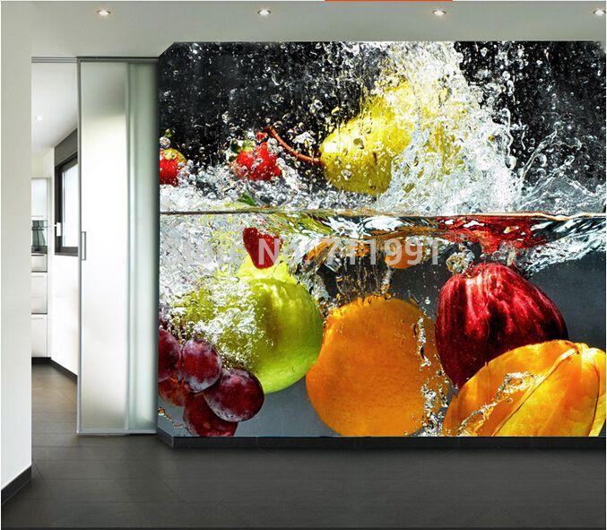 Restaurant Kitchen Wallpaper custom kitchen wallpaper fruit and vegetables for the restaurant