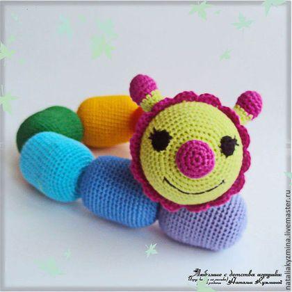 Радужная гусеничка - игрушка ручной работы,игрушка,игрушка в подарок,игрушка для детей