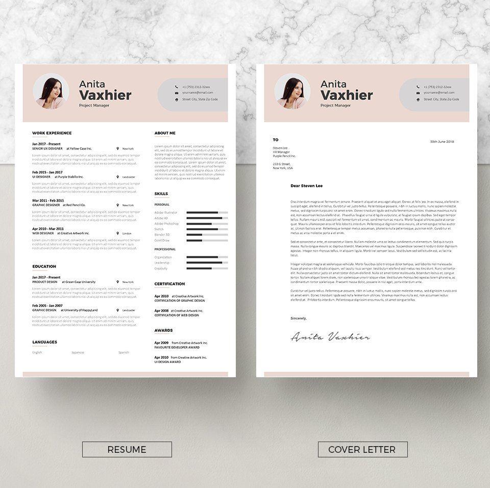 Vol.17 Resume Cover letter for resume, Cv template, Cv words
