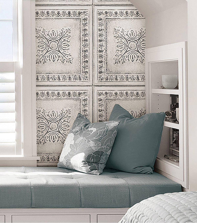 WallPops NuWallpaper Peel & Stick Wallpaper Reclaimed Tin