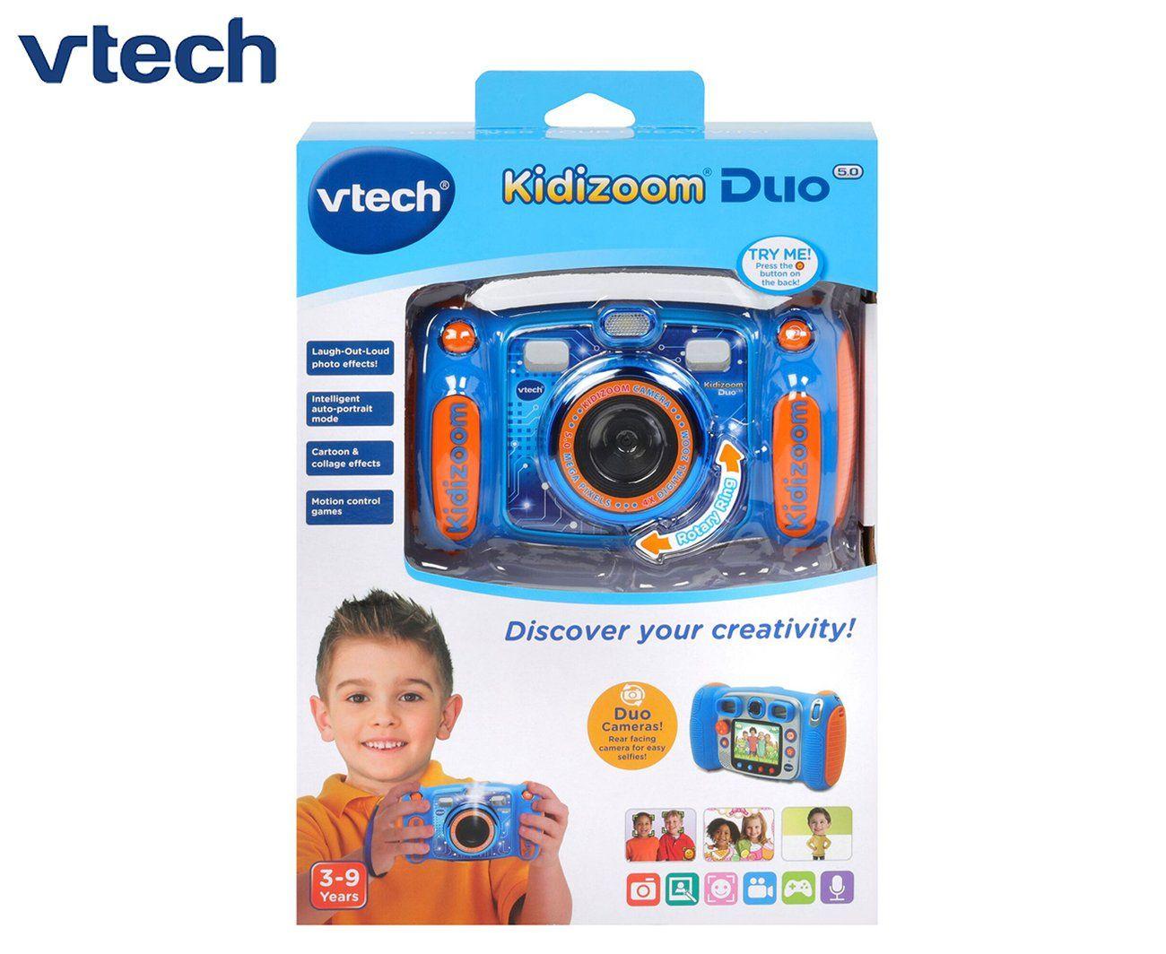 Vtech Kidizoom Duo 5 0 Digital Camera Blue Digital Camera Camera Highlights Kids