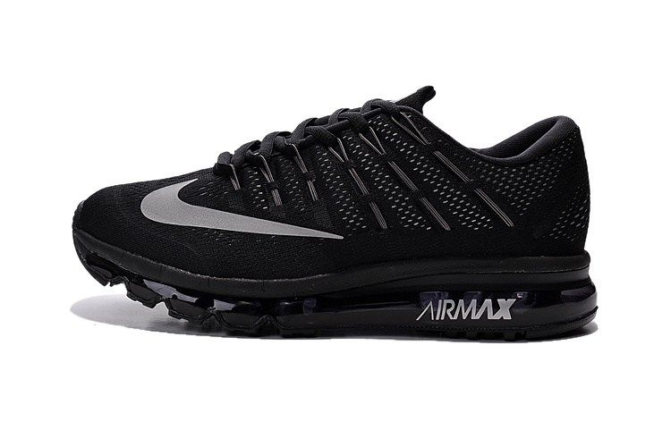 huge discount f259c 86436 Nike Air Max 2016 Men All Black Shoes