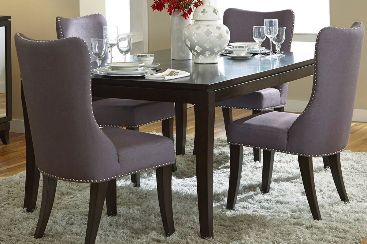 Vera Upholstered Charcoal Side Chair  Arizona  Pinterest  Side Best Upholstered Dining Room Chairs Decorating Design