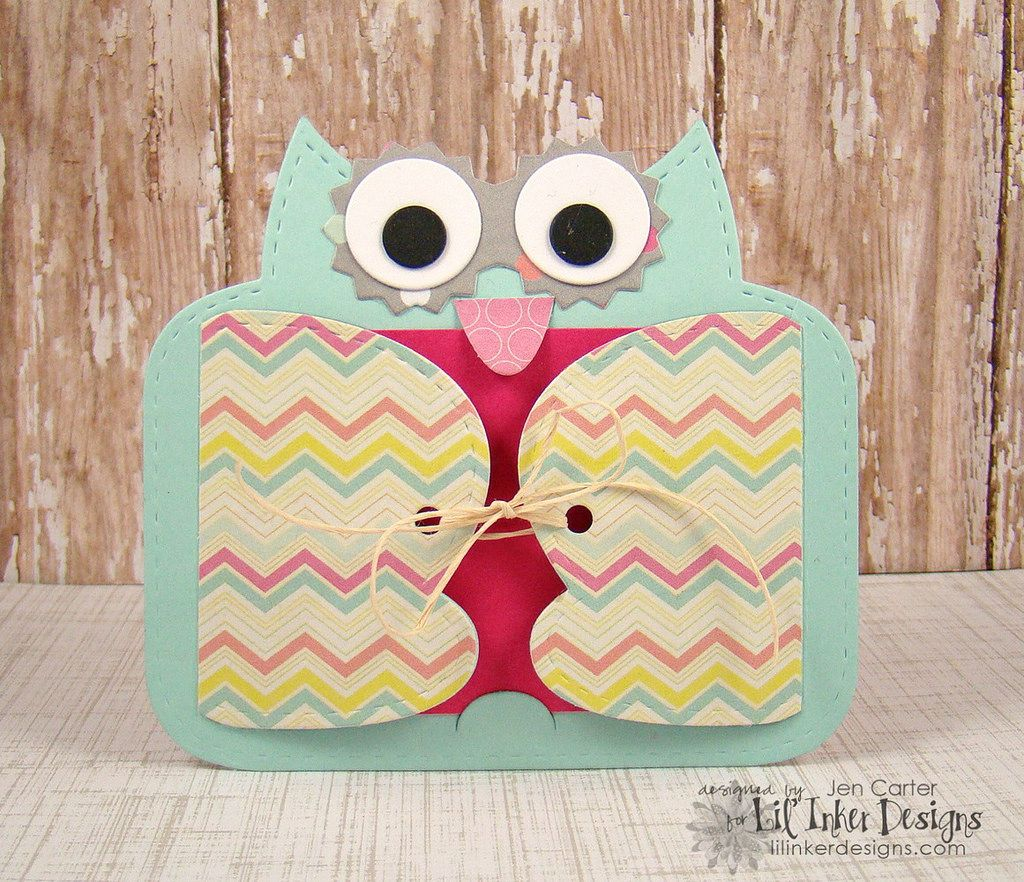 Give a hoot handmade gift tags cards