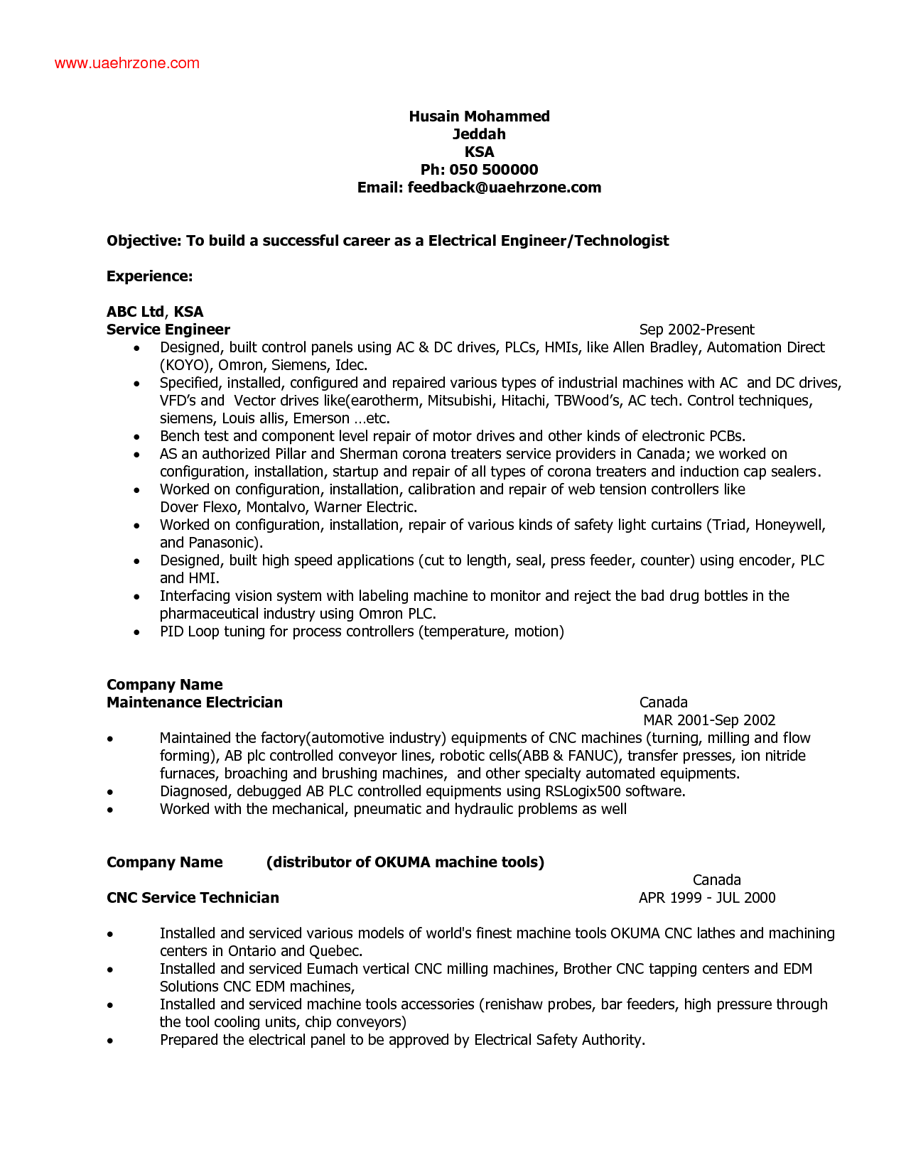 electrical engineer resume objectives resume samples - Ideal ...