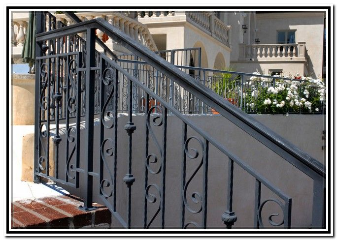 Wrought Iron Stair Railings Exterior Railings Home Accessories