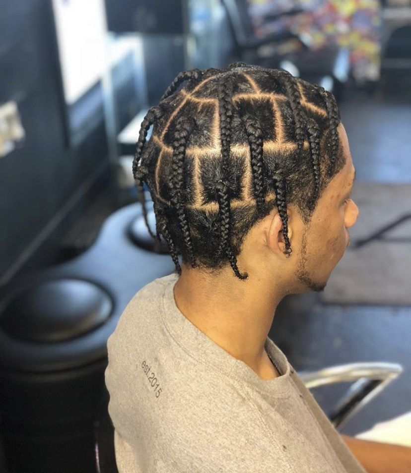 Pin By ϟ On Men S Hairstyles And Haircuts Braids For Short Hair Twist Braid Hairstyles Dyed Hair Men