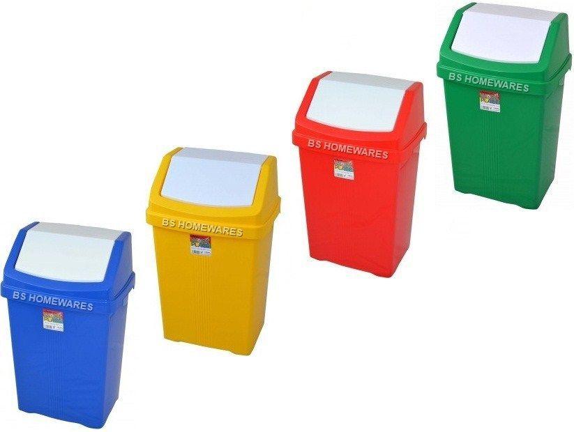 Kitchen Swing Bin Plastic 50l Home Recycle Bin Waste Rubbish Dustbin Color  Coded