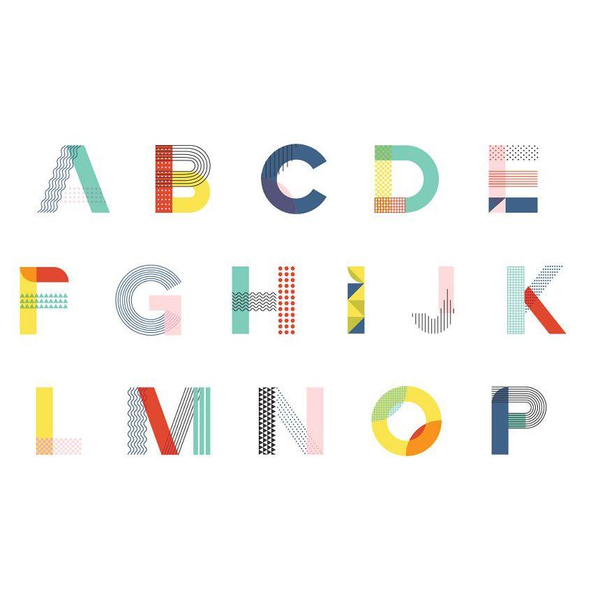 MEMPHIS Type Collection #memphisdesign