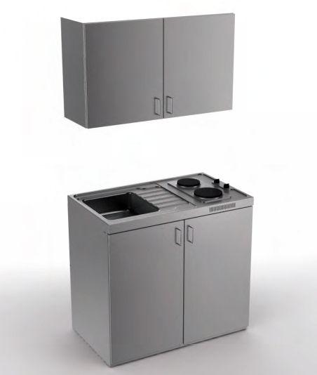Edelstahl miniküche ohne kühlschrank 100 cm