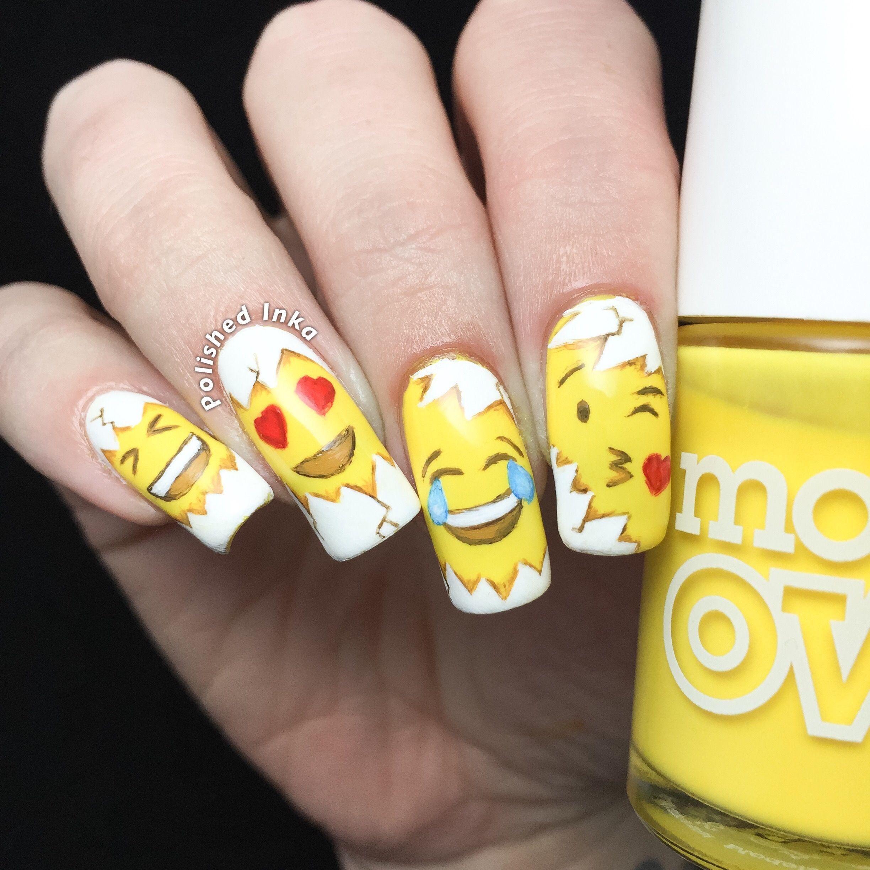 Easter Emoji Nail Art   Polished Inka   ve con vat   Pinterest ...