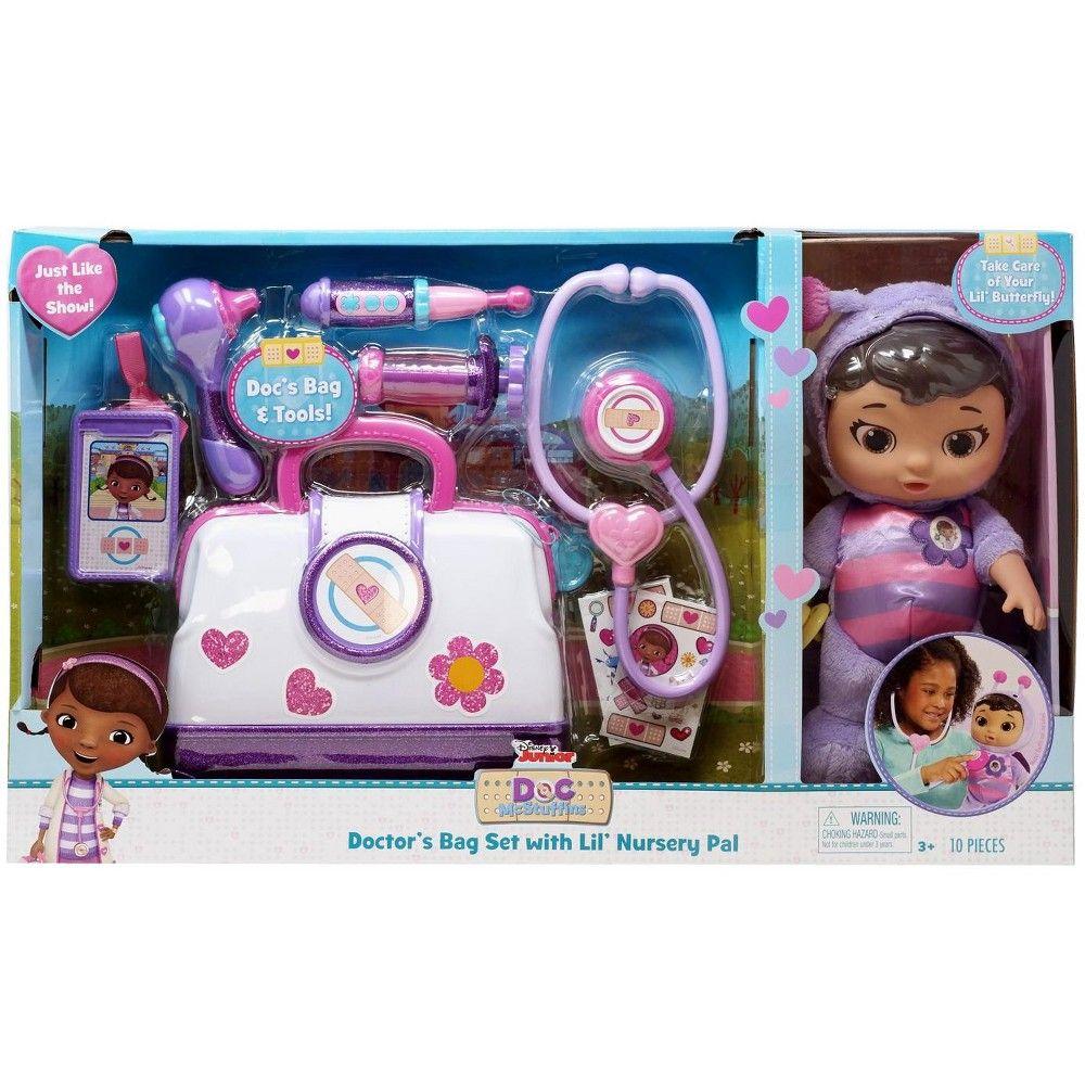 Disney Doc Mcstuffins Pet Rescue Doctor S Bag Set With Lil Nursery Pal Playset Lil Butterfly Playset Doc Mcstuffins