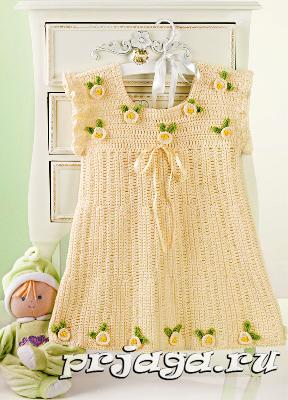 вязаные детские платья крючком вязание для детей детские платья