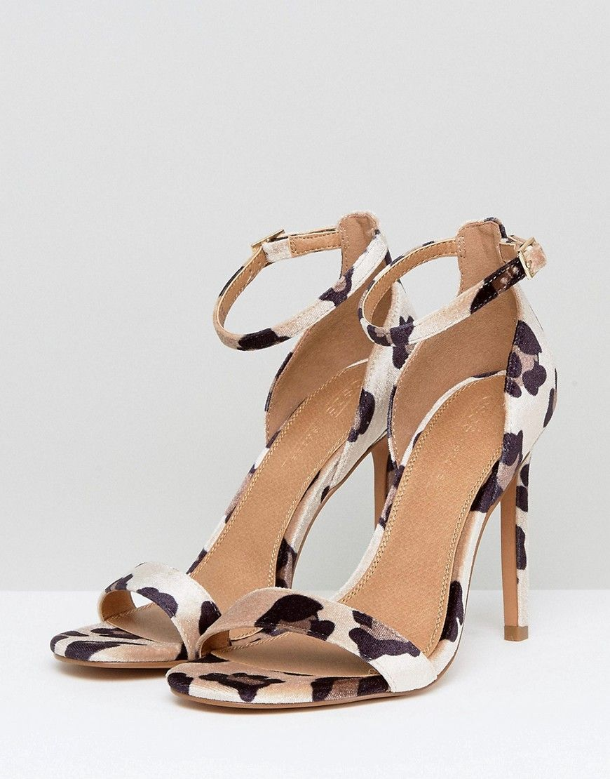 leopard print barely there sandals