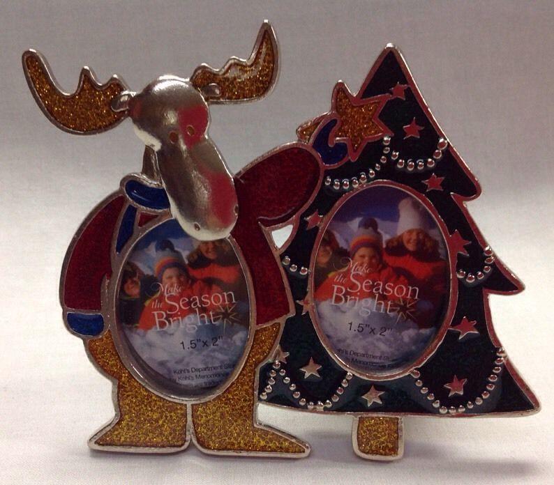 NIB Kohl\'s Make the Season Bright Holiday Picture Frames Moose ...