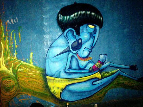 The street art of CRANIO
