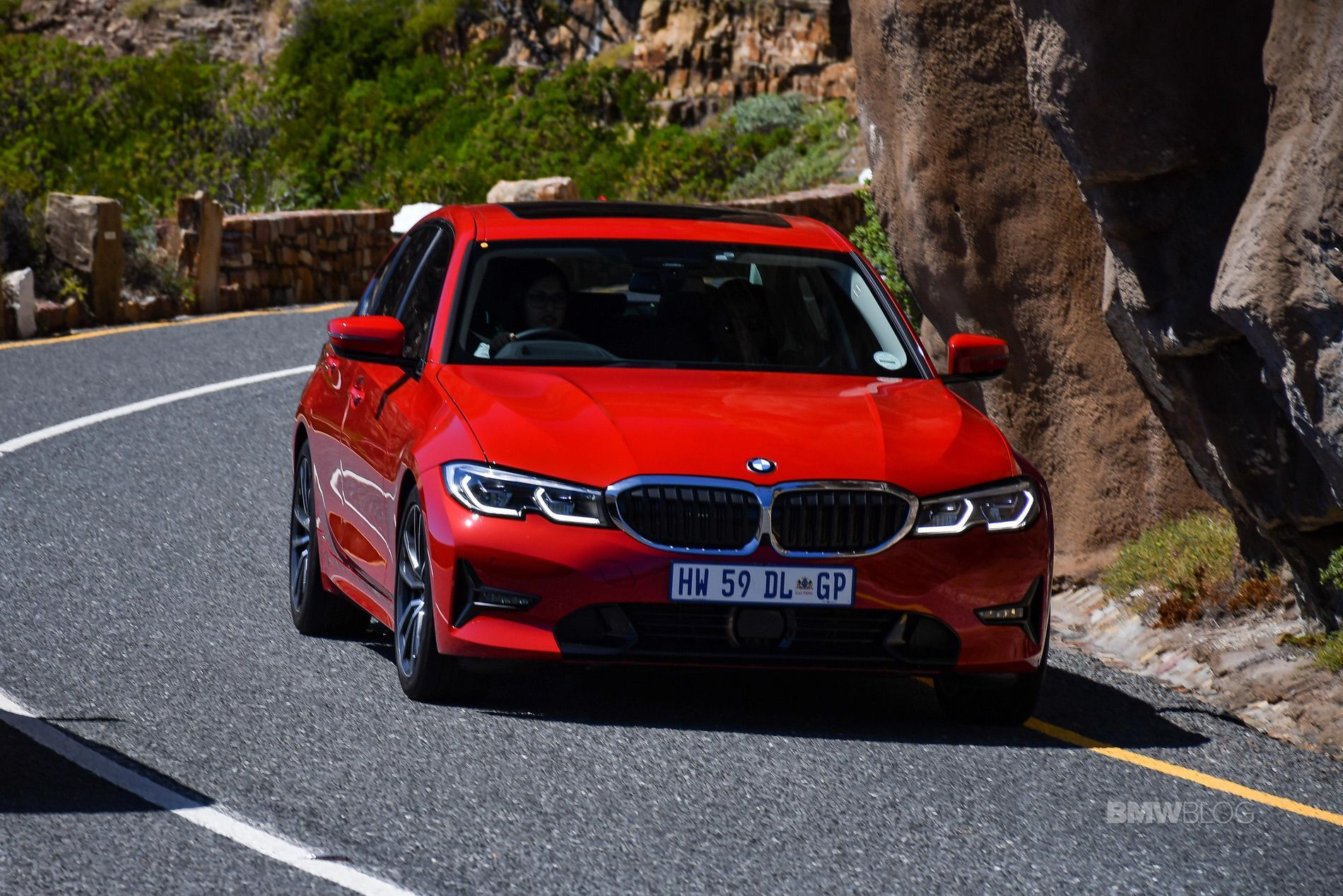 Bmw G20 3 Series In Melbourne Red With Sport Line Package