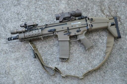 SCAR-L with short barrel  I wonder what is the accessory