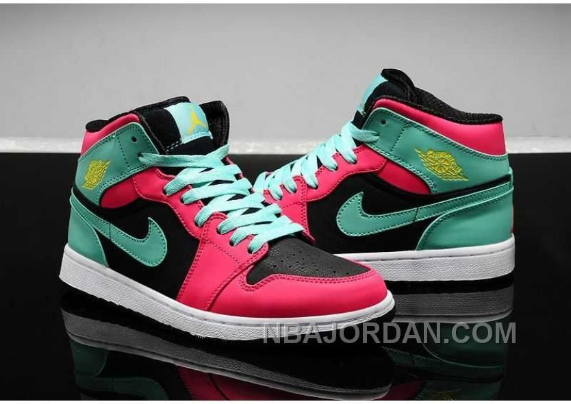 new product f0bd0 b52d5 NIKE AIR JORDAN 1 WOMENS 2014 RED GREEN BLACK SHOES LASTEST Only 84.00 ,  Free Shipping ...