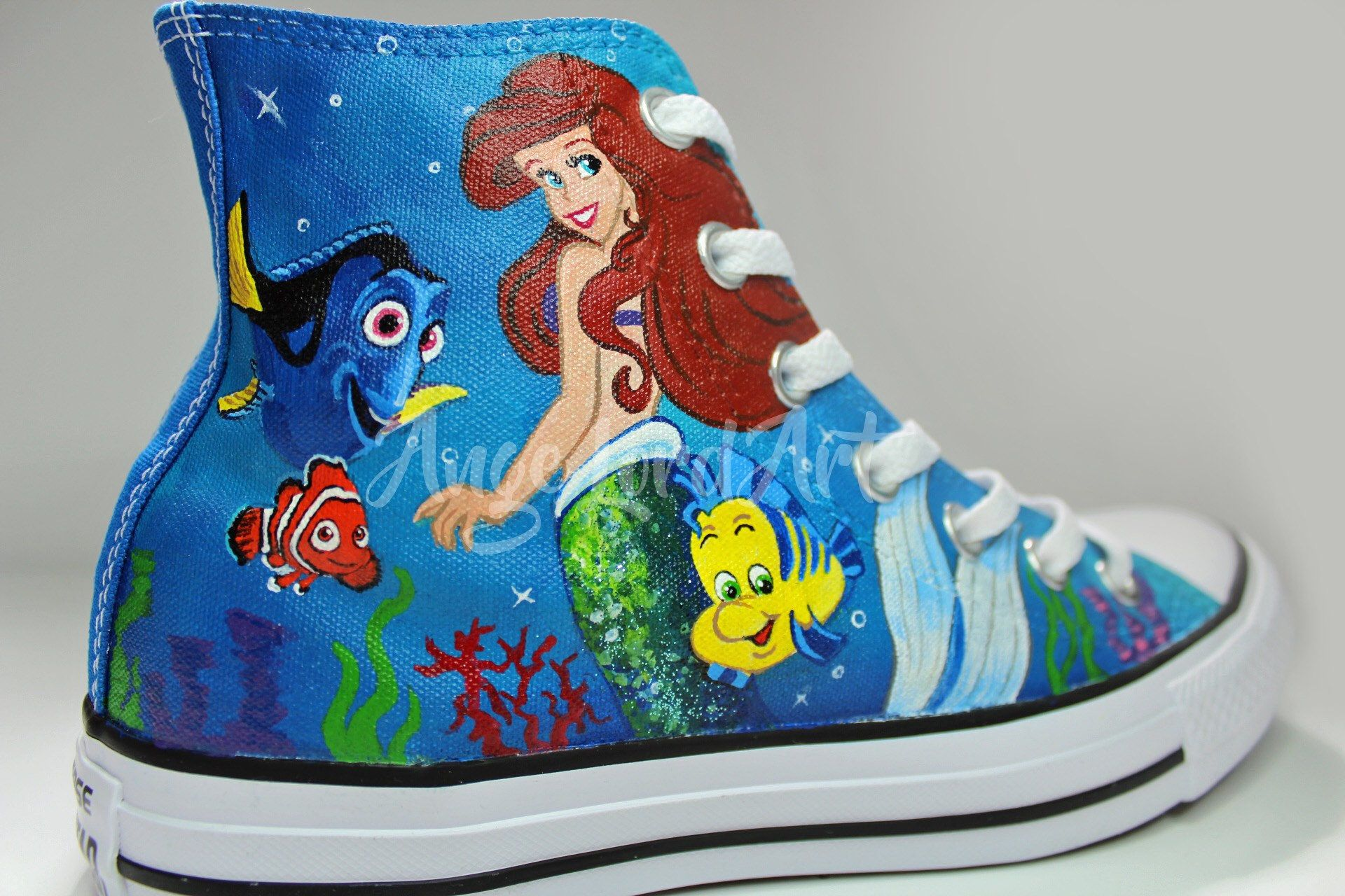 7a2b0bf40578 Custom Painted Disney Inspired Themed Converse Hi Tops shoes sneakers. All  Adult  amp  Children s