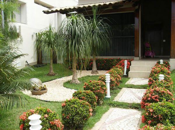 100 fotos de jardins de casas para inspirar plantas for Jardin entrada casa