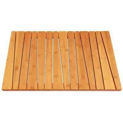 Toilet Tree Products Bamboo Deluxe Shower Mat Shower Floor Bamboo Bathroom Wooden Bath