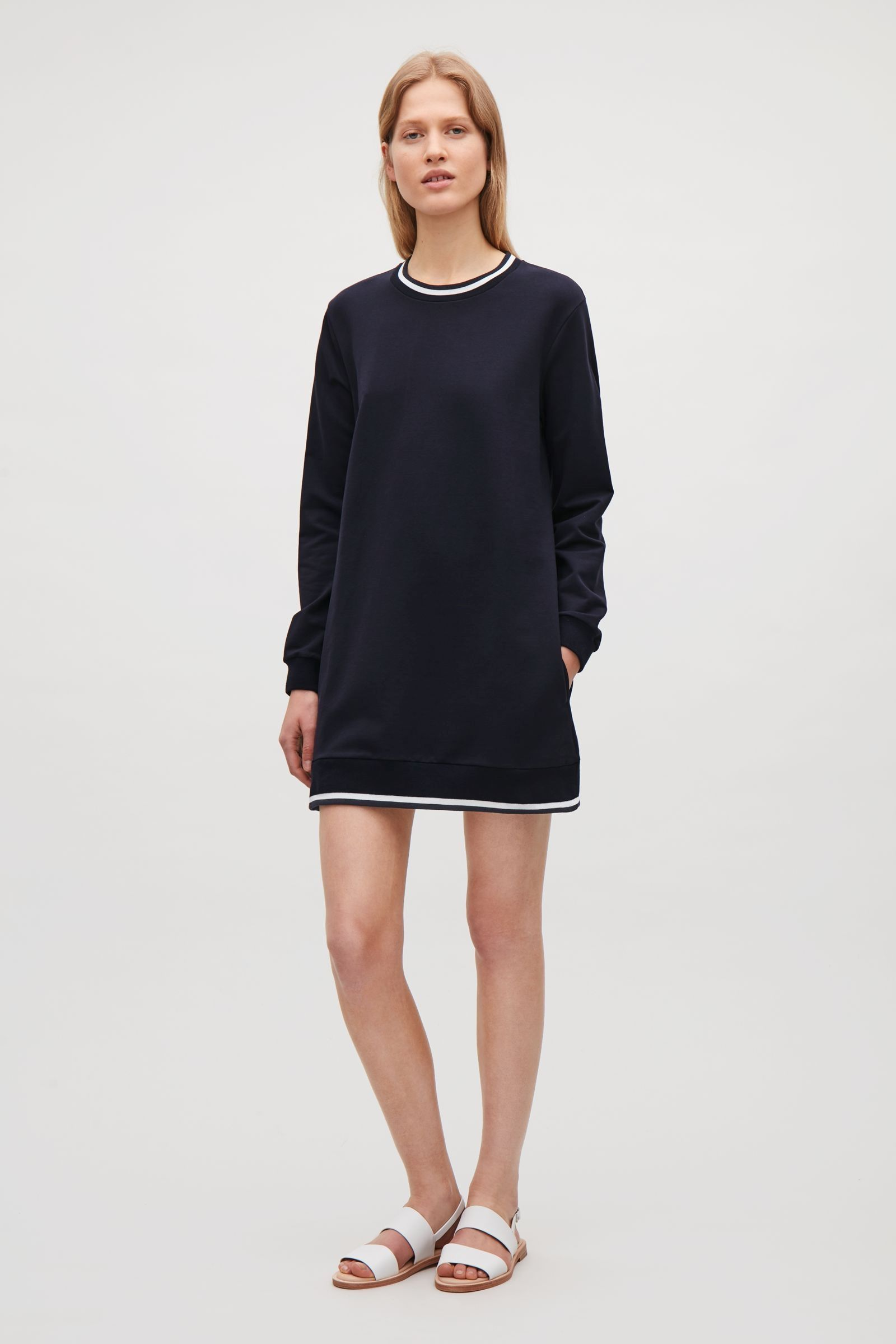 Cos image of sweatshirt dress in navy clothes pinterest